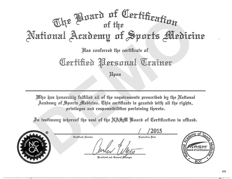 Personal Trainer Nasm